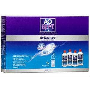 AOSept Plus mit HydraGlyde Systempack 4x360 ml
